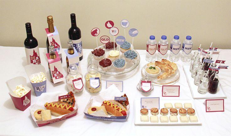 State of Origin Food Table | Creative Sense Co