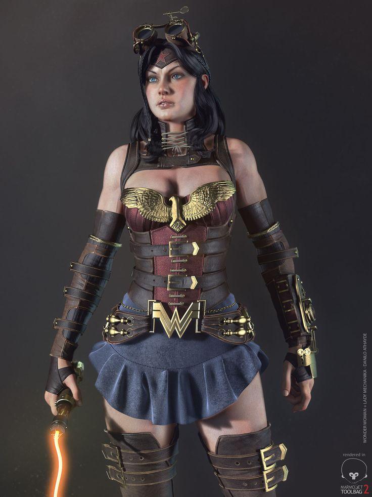 Realtime Wonder Woman + Lady Mechanika | maya and zbrush references | digital media arts college | www.dmac.edu | 561.391.1148