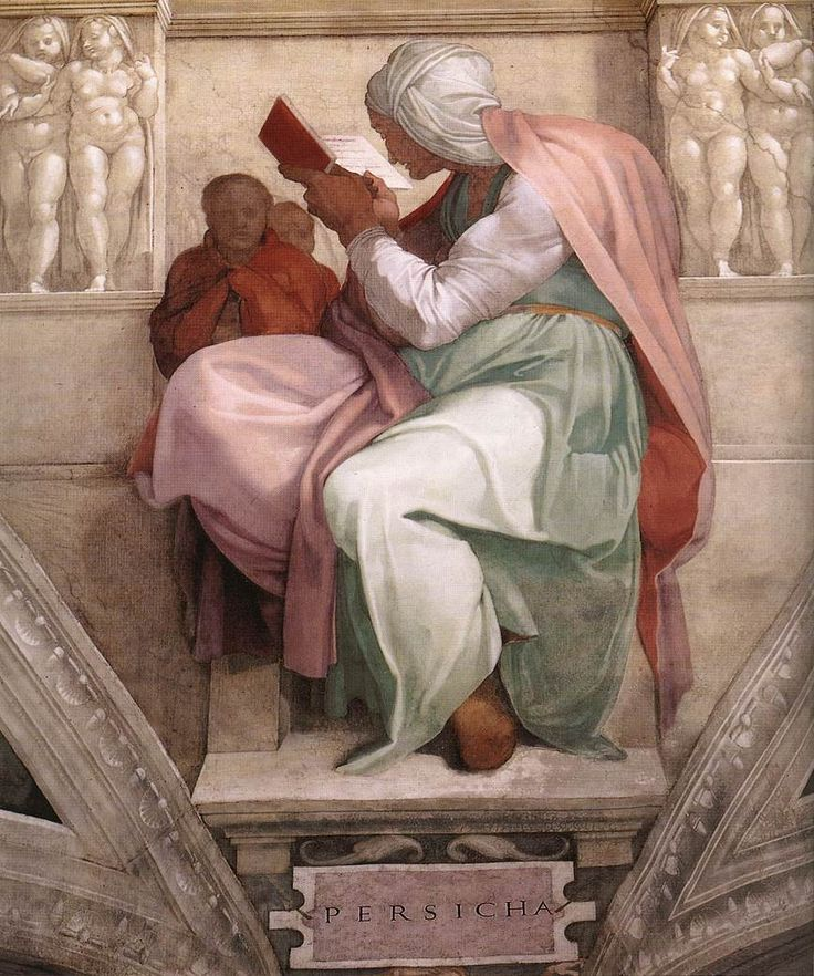 """The Persian Sibyl""  --  1511  --  Michelangelo Buonarroti  --  Italian  --  Fresco  --  Sistine Chapel Ceiling  --  Vatican City"
