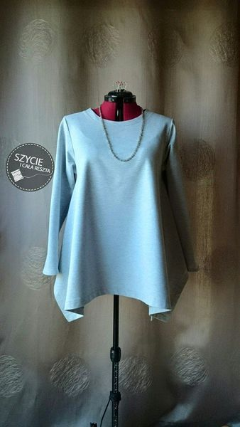 Grey is my love! Very comfy, everyday blouse. I can say it`s vintage-pattern comes from Burda 11/1993:)
