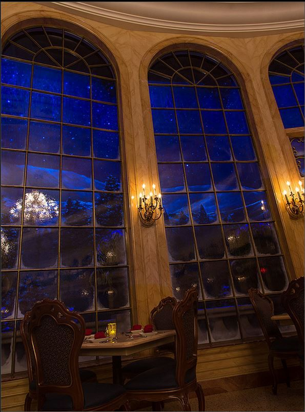 Disney; Dinning at the Beauty and Beast Castle