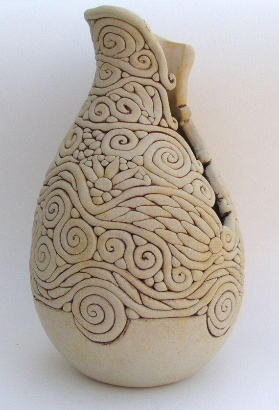 Ivory Colored Coil Vase Beautiful Vase And The O Jays