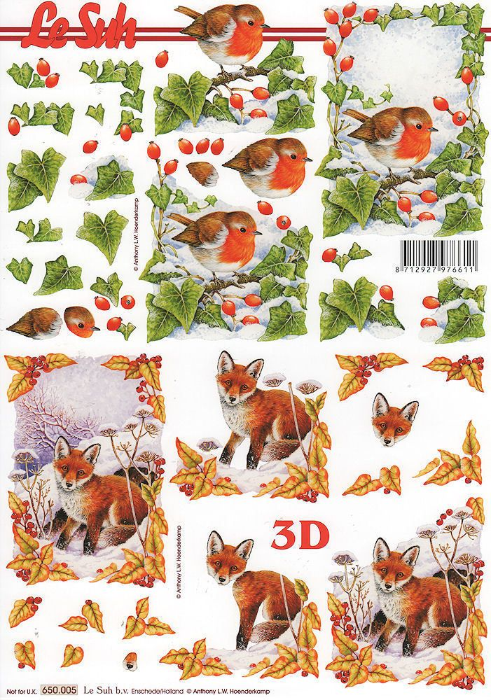 Fox 3D decoupage Le Suh