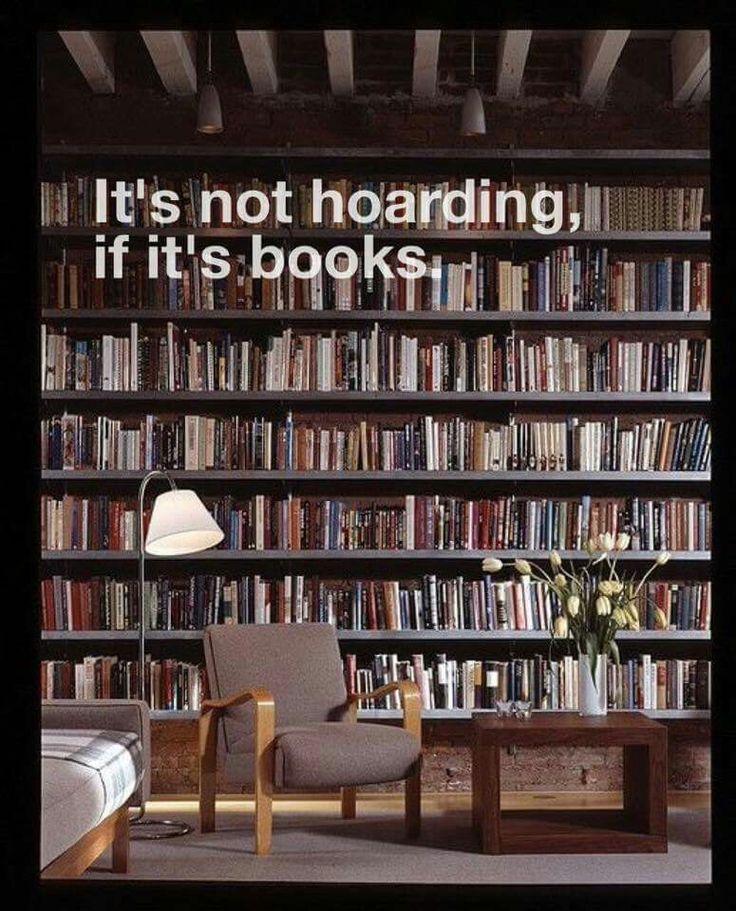 It's not hoarding...