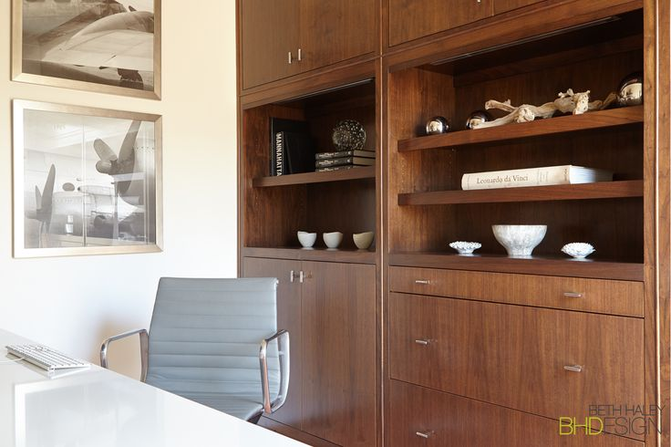 Custom Built-Ins for Home Office