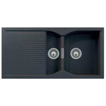 Schock Campus D150 1.5 Bowl Granite Nero Black Kitchen Sink & Waste - £306.89