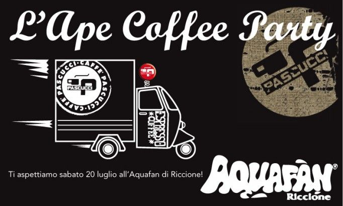 Pascucci Ape Coffee Party in Aquafan