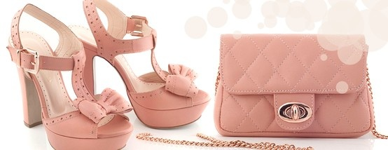Chaniotakis | Pink Leather High-heel with Bow