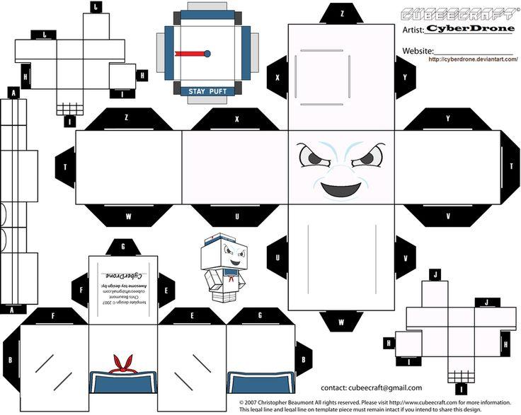 Cubee - Mr. Stay Puft by CyberDrone.deviantart.com on @deviantART