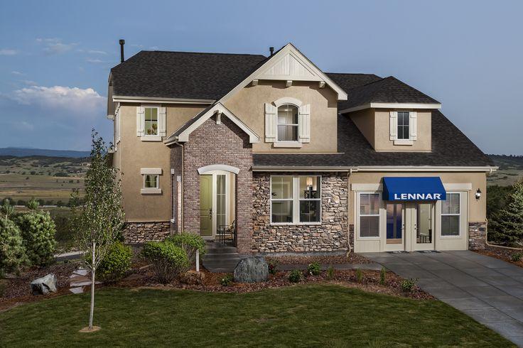 Savannah Model Home In Crystal Valley Ranch Community In