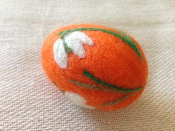 Needle felting Easter eggs. Lilies of the valley., 8.58 usd, etsy