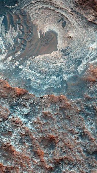"[NASA descubre evidencia de ""agua salada líquida"", Orbitador de Reconocimiento de Marte] » NASA discovers evidence of ""liquid briny water"" Mars Reconnaissance Orbiter"