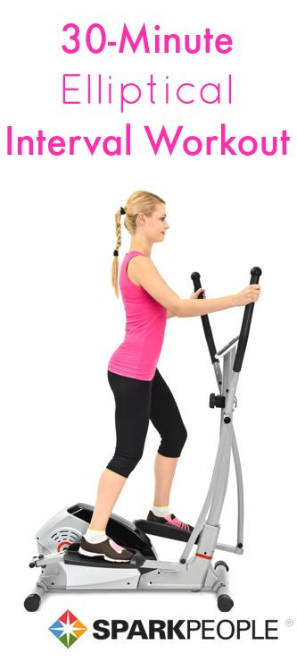 Blast fat in 30 minutes flat with this fun elliptical workout! | via @SparkPeople #fitness #exercise #gym #plan #interval #cardio