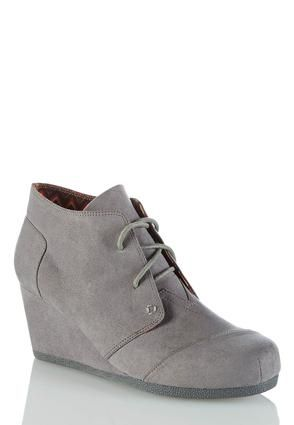 Cato Fashions Lace Up Wedge Shooties #CatoFashions