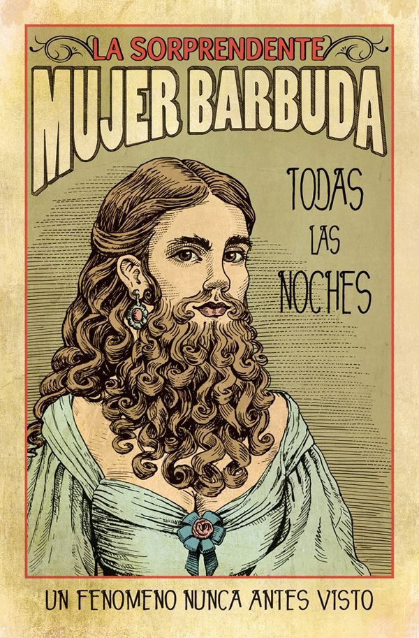 Bearded Lady Vintage Poster