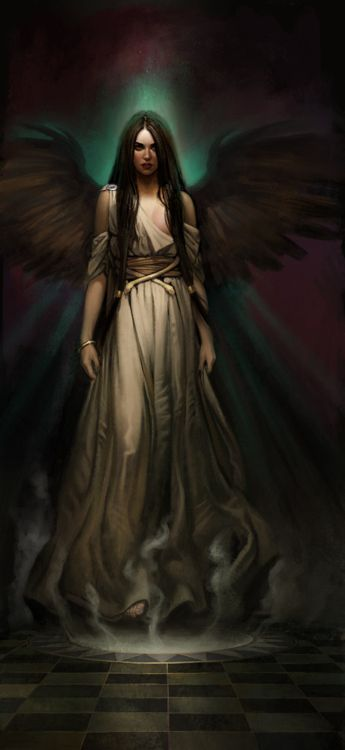 # The Hohlwen are fallen angels that are made of darkness and must live off the life force and magic of others - Zyne witches are their favorite meal.