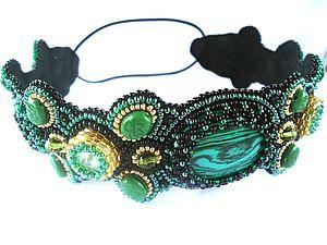 """Мастер-класс по созданию повязки на голову """"Эльфийский лес"""" - Ярмарка Мастеров - ручная работа, handmade"""