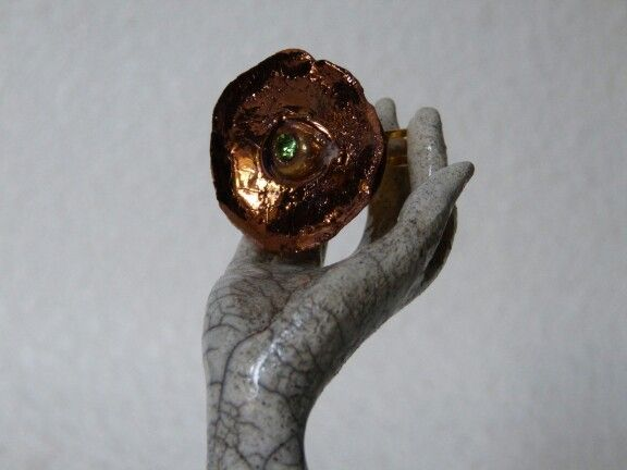 Ceramics luster, copper, ring