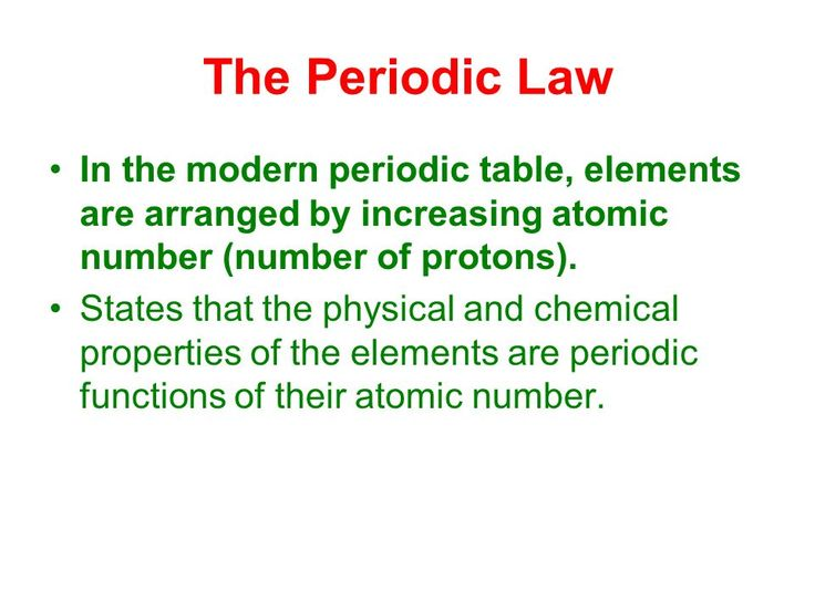 Image result for Mendeleevu0027s Periodic Law Videos Pinterest - new modern periodic table elements arranged according