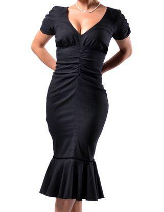 At modern dresslily - Black White Pinstripe Maria Dress Modern Grease Clothing