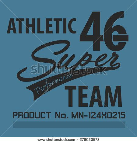 athletic super team typographic for t-shirt,tee graphic,vector