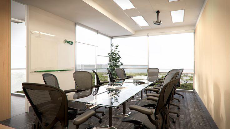 Render Interior Oficinas Sala de Juntas - EVA3D