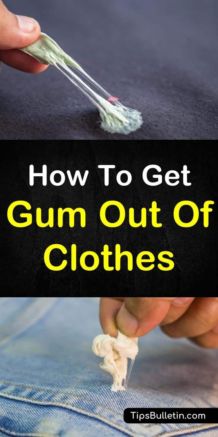 Awesome Tips And Tricks For How To Get Gum Out Of Clothes Learn How To Remove Gum With Ice Baking Sod Remove Gum From Clothes Cleaning Hacks Clean Dishwasher