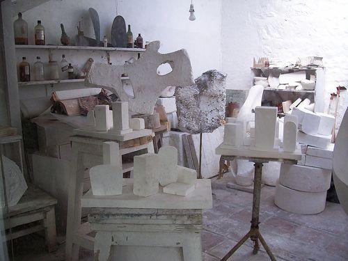 Barbara Hepworth's studio