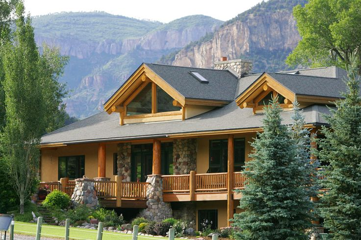 Luxury mountain log home plans clinetop ranch for Luxury waterfront house plans