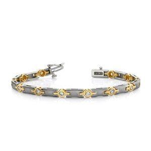 Diamantring / Diamantarmband / Diamantschmuck: Diamantarmband mit 1.00 Karat Diamanten aus 585er ...