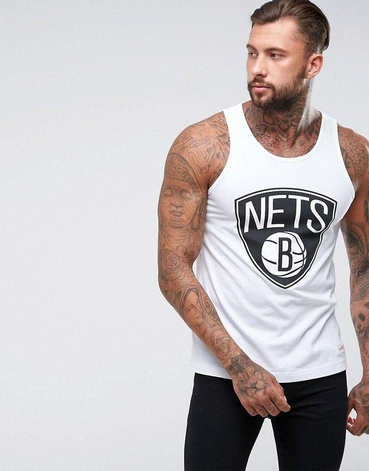Mitchell & Ness NBA Brooklyn Nets Tank - White