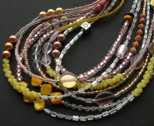 bransoletki - minerały-tropikalny sorbet - naszyjnik