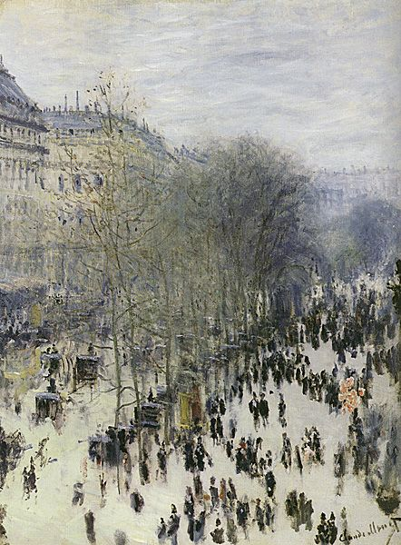 Boulevard des Capucines - Claude Monet, French Impressionist Painter (1840 -1926)