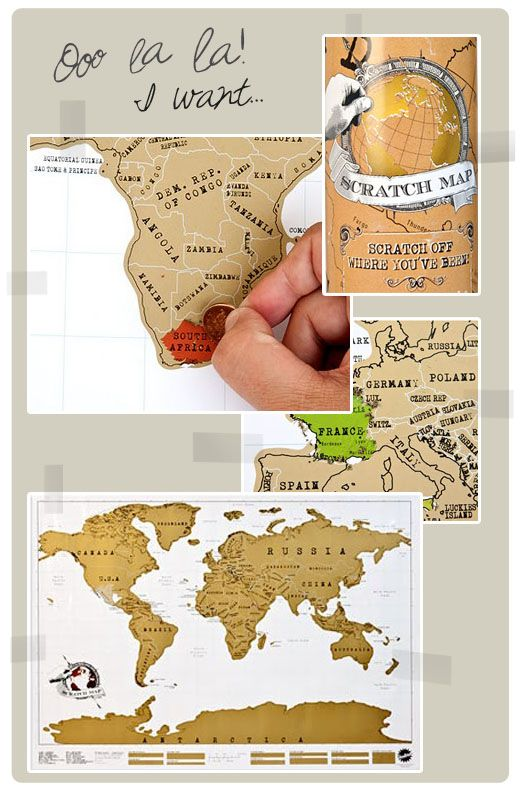 what a fun idea scratch map scratch off where you have been