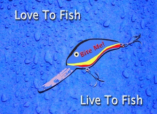 Lucky Fishing Lure Happy Birthday Greeting Card