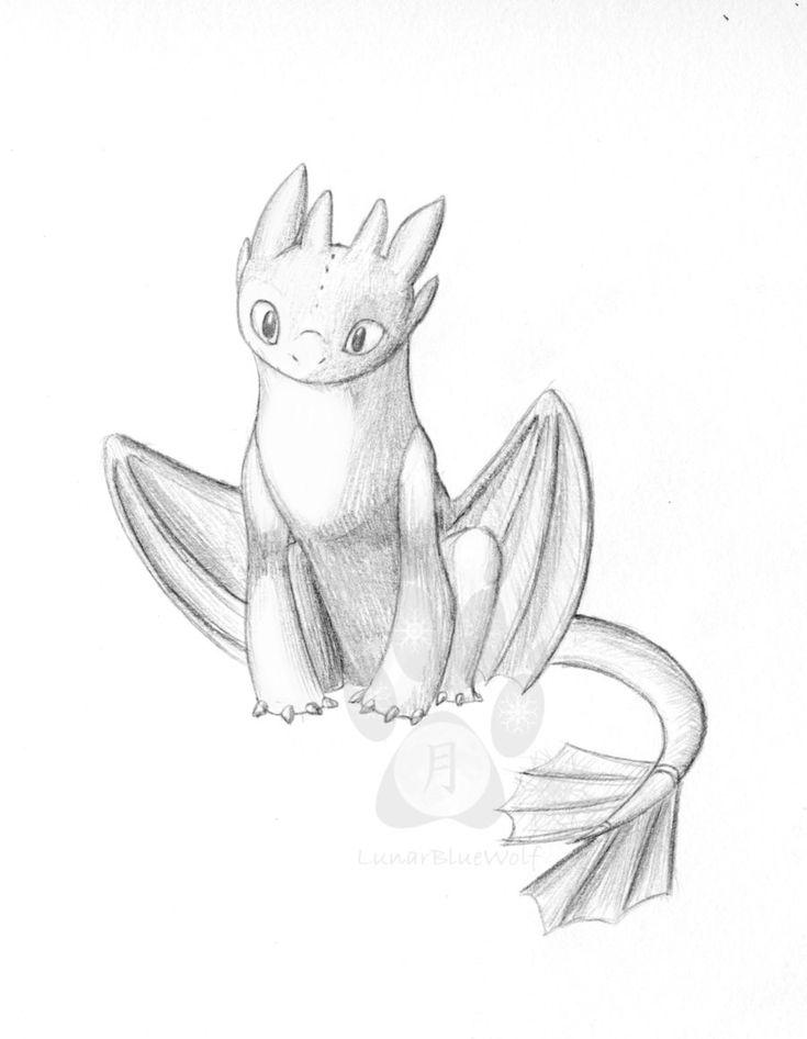 Toothless sketch by LunarBlueWolf.deviantart.com on @deviantART