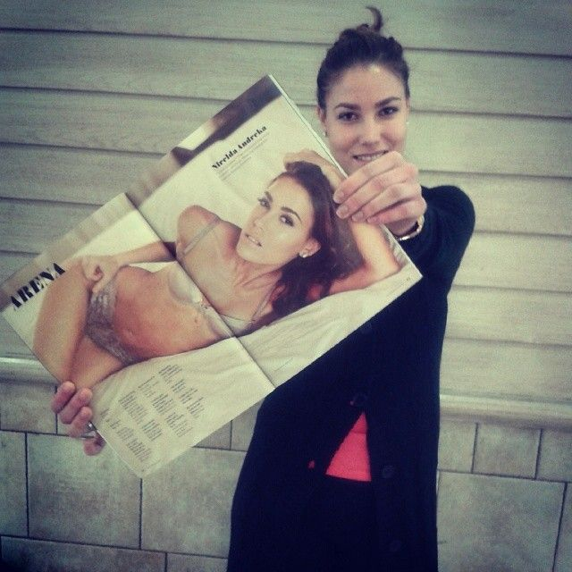 Nirelda Andreka in one of the magazines