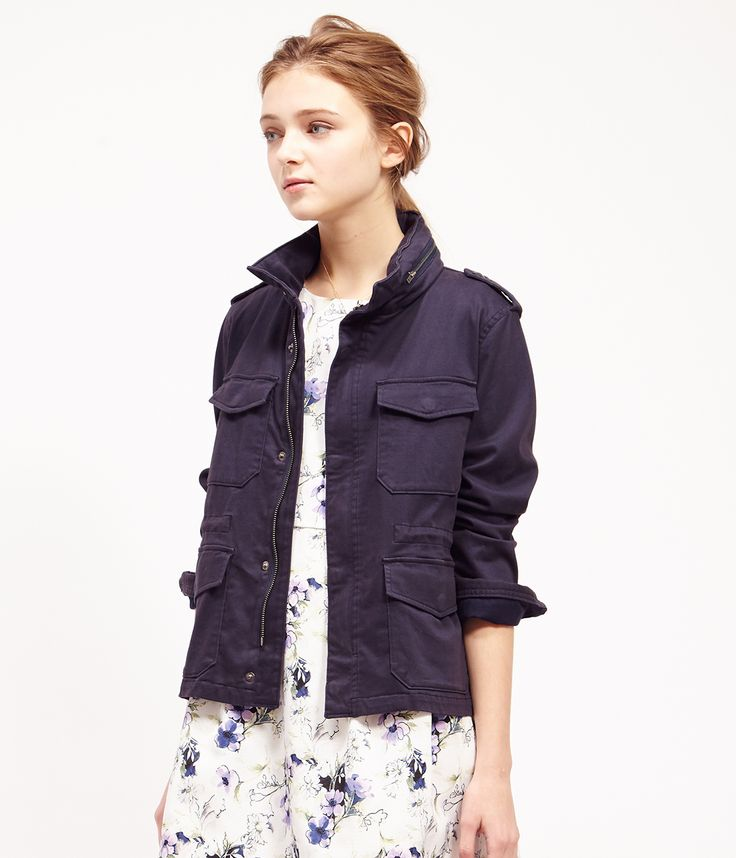 ROPÉ PICNIC(ロペピクニック)|M-65ミリタリージャケット M-65 military jacket |NAVY #J'aDoRe JUN ONLINE #J'aDoRe Magazine