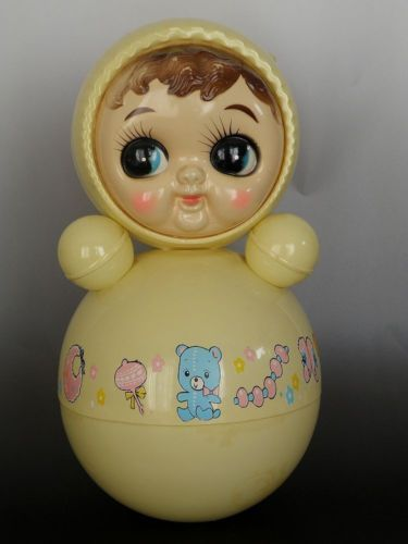 Vintage Japan Plastic Chime Roly Poly Doll Toy 70's Googly Eyes 12 5 Inch | eBay