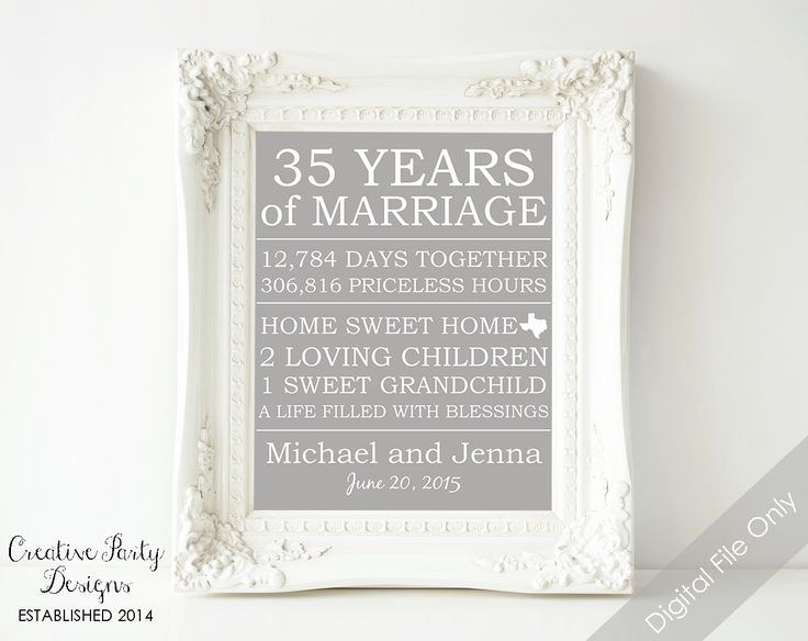 Gift For Parents Wedding Anniversary: 1000+ Ideas About Parents Anniversary Gifts On Pinterest