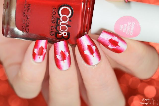 OOOHHH CANADAAAAA nails by simplynailogical
