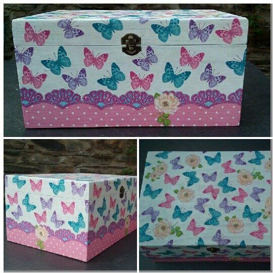 Caja de madera decorada con decoupage decoupage - Manualidades cajas madera ...