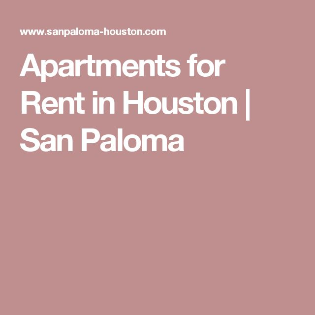 Apartments For Rent In Houston | San Paloma