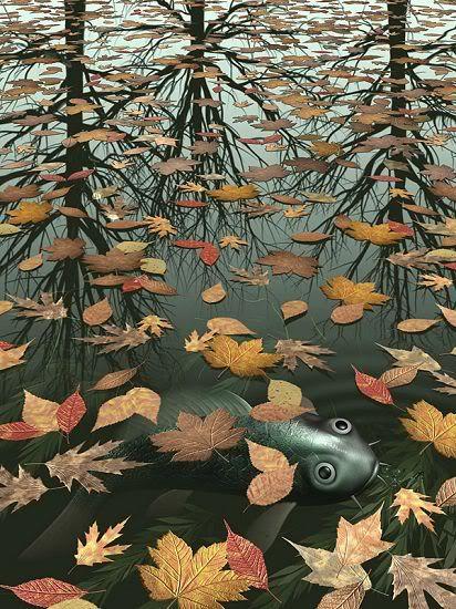 M. C. Escher; Three Worlds