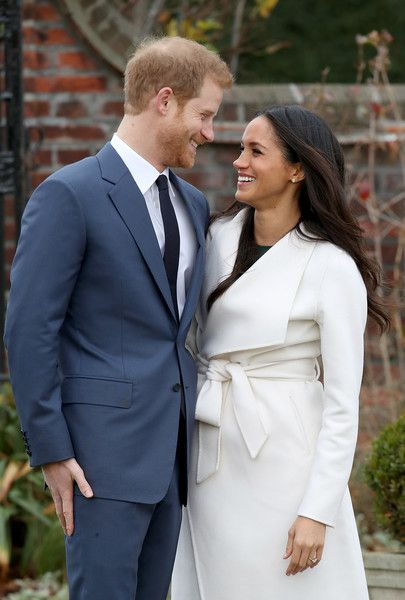 Prince Harry Photos - Prince Harry and actress Meghan Markle during an official photocall to announce their engagement at The Sunken Gardens at Kensington Palace on November 27, 2017 in London, England. Prince Harry and Meghan Markle have been a couple officially since November 2016 and are due to marry in Spring 2018. - Announcement Of Prince Harry's Engagement To Meghan Markle
