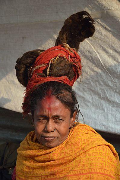Sadhvi or female Sadhu at the Gangasagar Fair transit camp, Kolkata. #hearttravel West Bengal Taxi r #WestBengal State, #travel #tourism #kolkata #art #desi #socialmedia #india #kantinathbanerjee