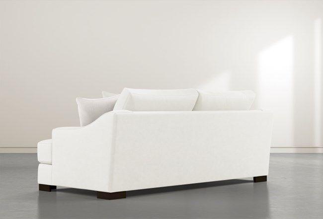 Lodge Foam White Sofa White Sofa Living White Sofas Sofa