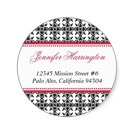Best Round Address Label Stickers Images On   Label