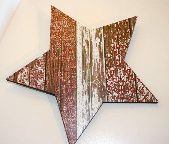 Star Wall Decor Shabby Chic Star Coastal By FinchnWillowBoutique, $15.00 Part 29