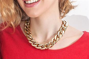 Collier chaîne gros maillons ajustable doré/argent DIDI